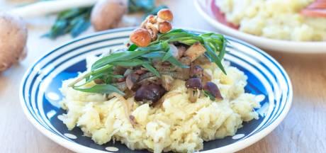Wat Eten We Vandaag: Zuurkoolstamppot met paddenstoelen en dragon
