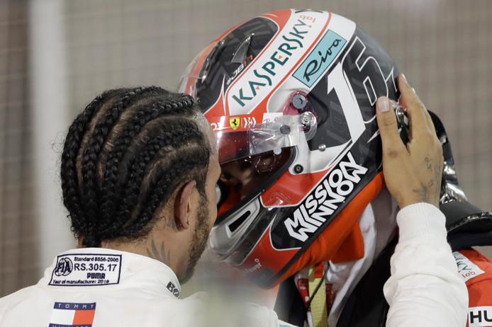 Lewis Hamilton troost Charles Leclerc