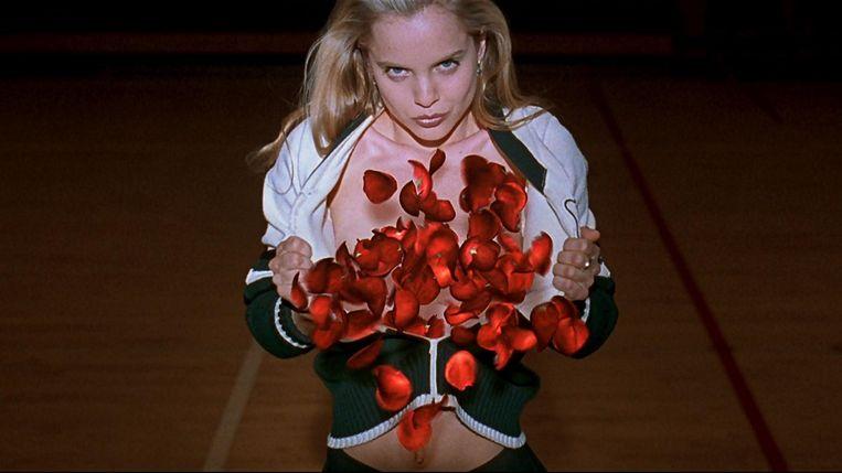 Mena Suvari als Angela in American Beauty. Beeld x