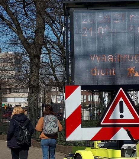 Waalbrug Nijmegen woensdagnacht volledig afgesloten