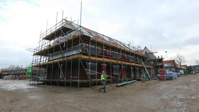 De nieuwbouw in Patrimonium vordert snel.
