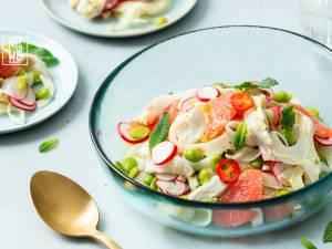 Wat Eten We Vandaag: Ceviche van zeebaars met venkel en grapefruit
