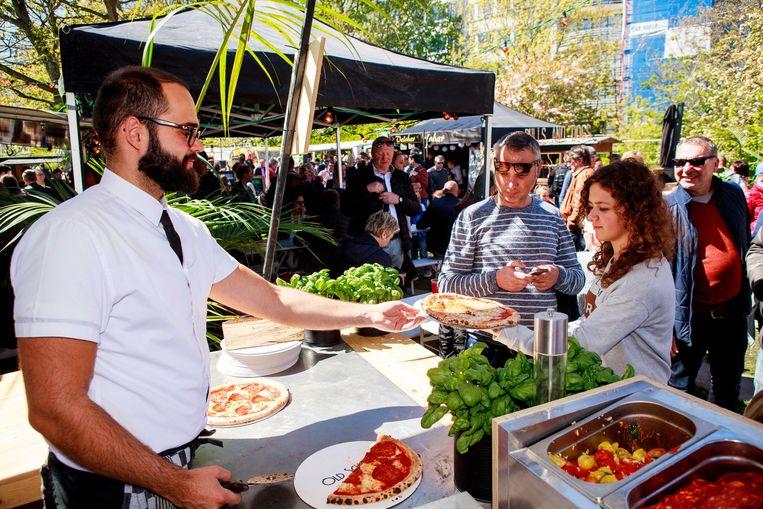 Oostende -- foodtruckfestival Barrio Cantina in het Leopoldpark / Old Scuola, Aitor ah werk