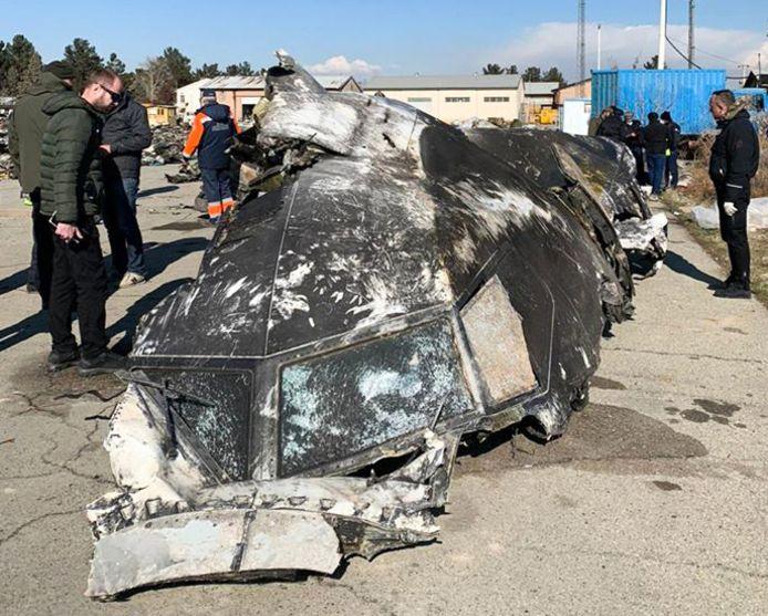 Les restes de l'appareil, abattu peu après son décollage de Téhéran