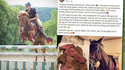 Amazone krijgt doodsbedreigingen omdat ze paard opat nadat het afgemaakt moest worden