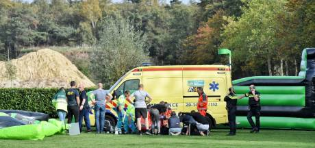 Ernstig ongeluk met springkussen in Esbeek: twee kinderen gewond