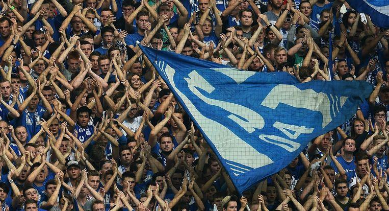 Fans van de Duitse club Schalke 04. Beeld afp