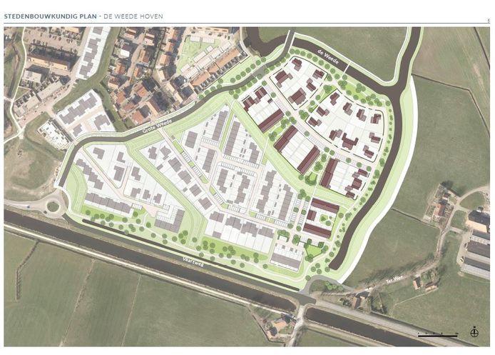 Uitbreiding Hasselt om de Weede met de Weede Hoven. De Weede Hoven bestaat uit circa 62 woningen.