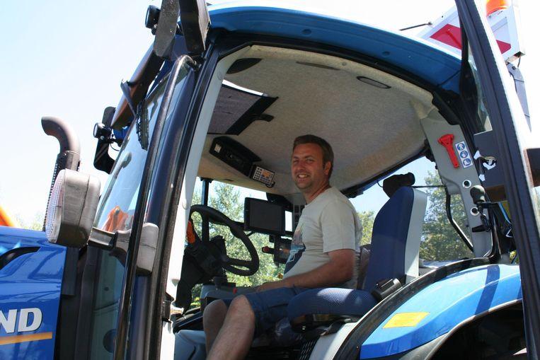 Dries Vandergeeten zal in het Hageland de tractor besturen