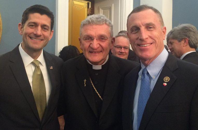 Murphy met Paul Ryan en bisschop David Zubik in februari vorig jaar.