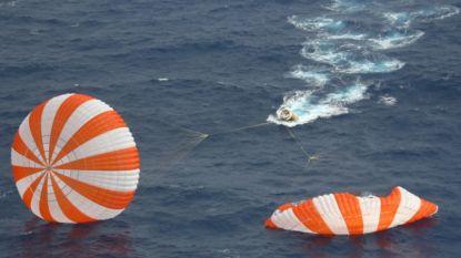 Dragon van SpaceX beëindigt derde succesvolle missie met plons in oceaan