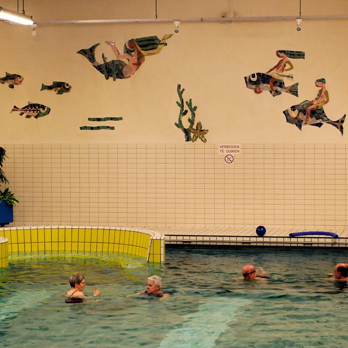 Etten-Leur :  Mozaïek Vissen in het oude zwembad de  Banakker