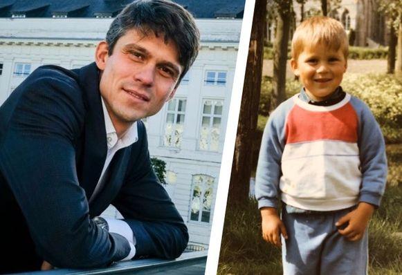 Kersverse CD&V-minister Benjamin Dalle nu en vroeger.