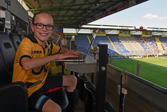 Sofie Crielaard wil graag sportjournaliste worden.
