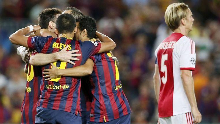 Messi heeft Barcelona op 4-0 gezet. Beeld reuters