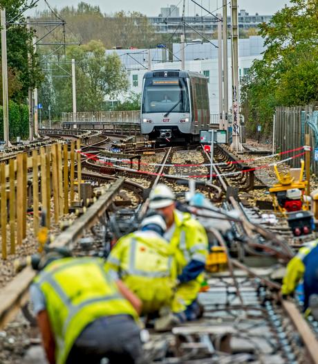 Metrohalte Capelsebrug in het 'nieuw'