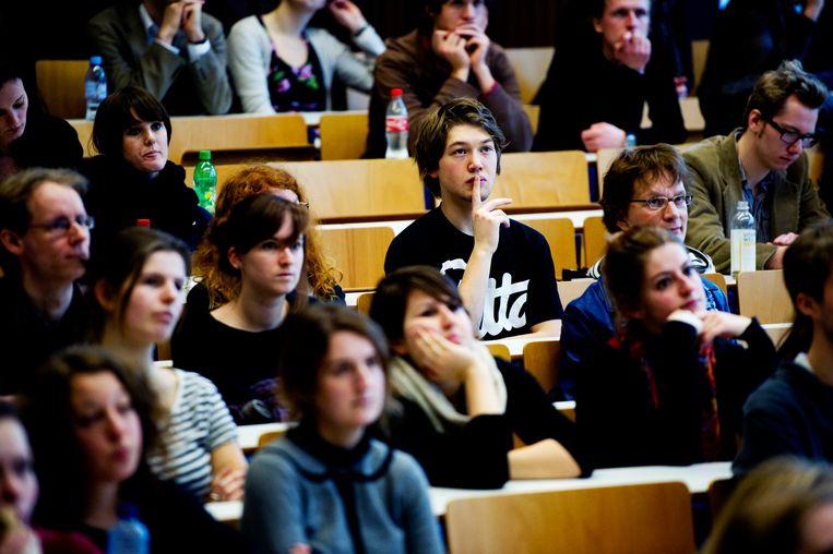 Studenten van de Universiteit van Amsterdam. Beeld Archieffoto ANP
