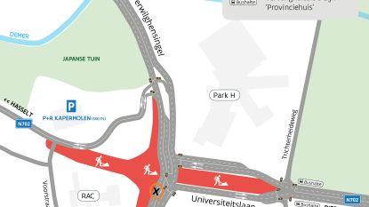 Nog tot weekend verkeershinder aan Hasseltse Grote Ring