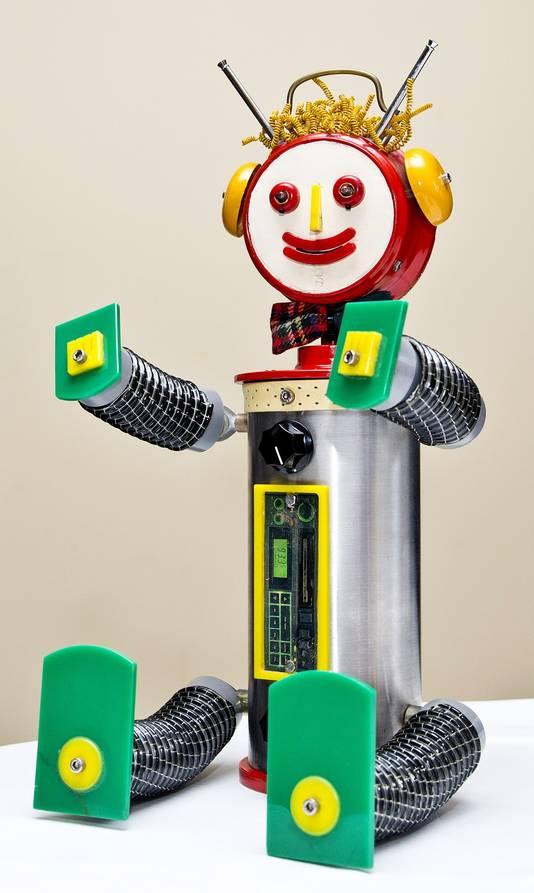 Robin de robot, het slimme maatje van Bassie en Adriaan.