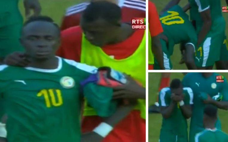 Mané barstte in tranen uit na de match.