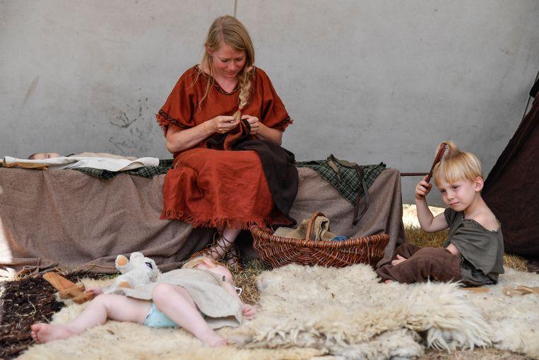 Ook de allerkleinsten kregen een plaats in het Gallisch dorp.
