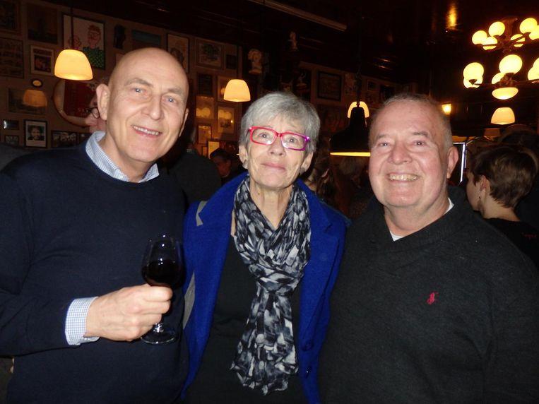 Initiatiefnemer van Roze Stadsdorp Ineke Kraus, met links Peter Sas en rechts Sander van Hulsenbeek. Peter: