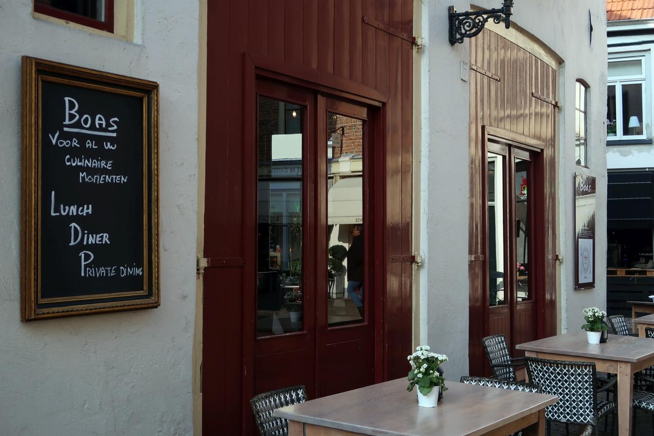 Restaurant Boas, op de hoek van de Golstraat met de Walstraat. Foto Erna Lammers