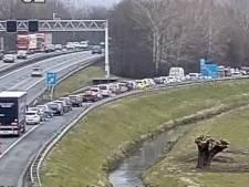 Defecte verkeerslichten en ongeluk zorgen voor ongewoon lange file op A12