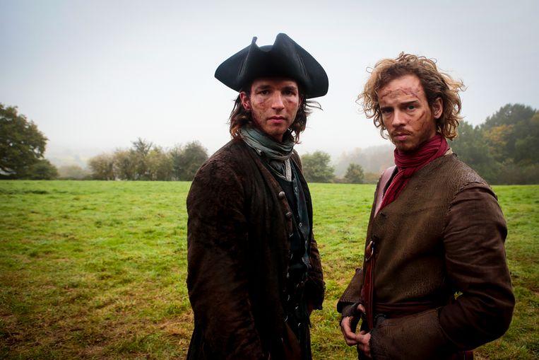 Matteo Simoni vertolkt de rol van Jan de Lichte, een Aalsterse struikrover uit de 18de eeuw. Stef Aerts (rechts)...