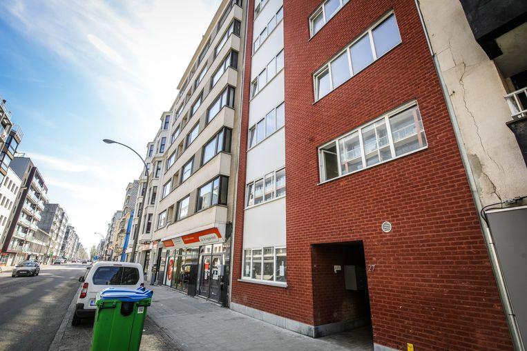 Het gebouw aan de Torhoutse Steenweg 27 waar de daklozen voorlopig worden opgevangen in Oostende.
