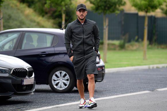Hazard maakte dinsdag even kort zijn opwachting in Tubeke.