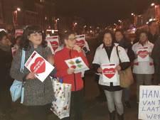 Protest medewerkers en cliënten van Roosendaalse thuiszorg: 'Wij voelen ons een beetje verraden'