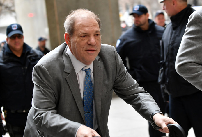 Harvey Weinstein lors de son arrivée au tribunal, le 18 février 2020, à New York.