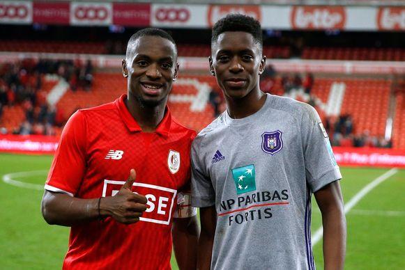 Mpoku na Standard - Anderlecht met zijn broer Sambi Lokonga