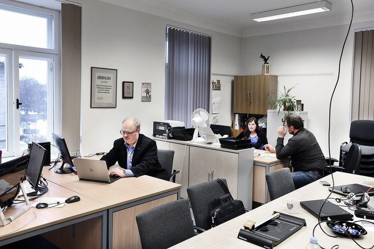Het kantoor van de cyberafdeling van de nationale reserve. Beeld Guus Dubbelman