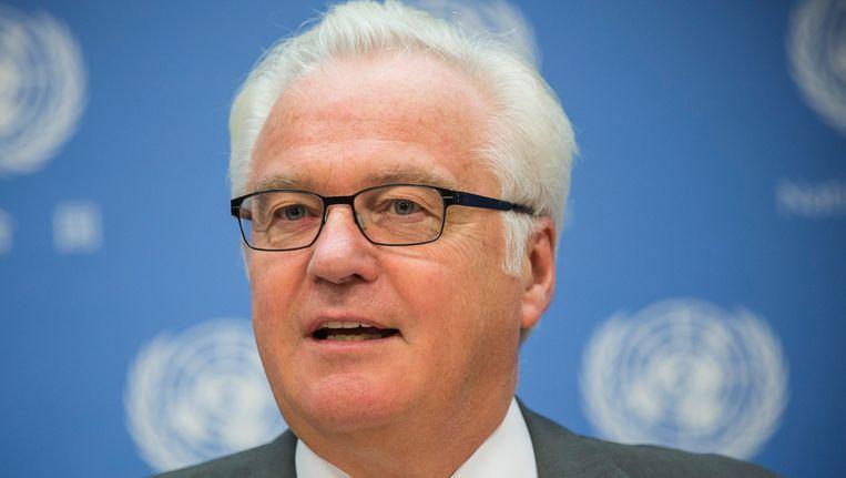 De Russische VN-ambassadeur Vitaly Churkin. Beeld afp