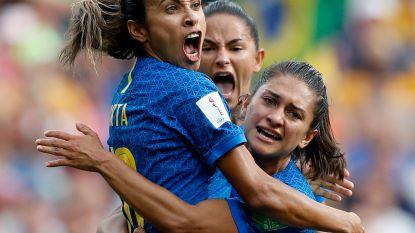 Braziliaanse legende Marta zorgt voor unicum op WK vrouwenvoetbal, China blijft in de race