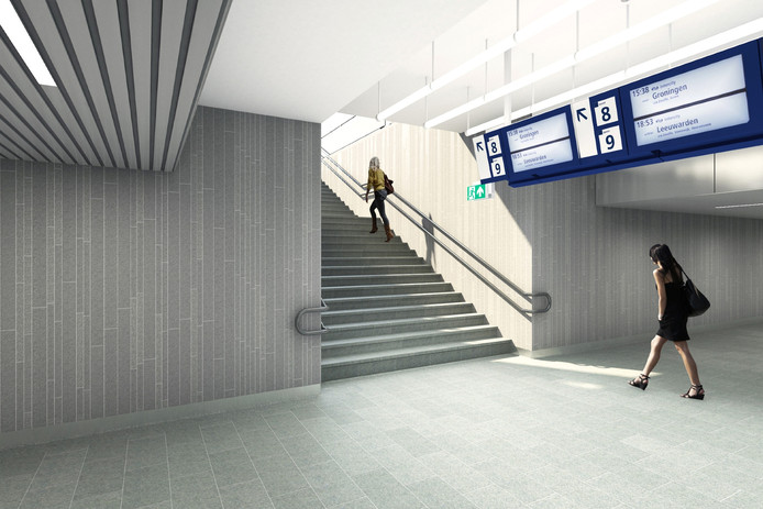 De middentunnel van Utrecht Centraal.