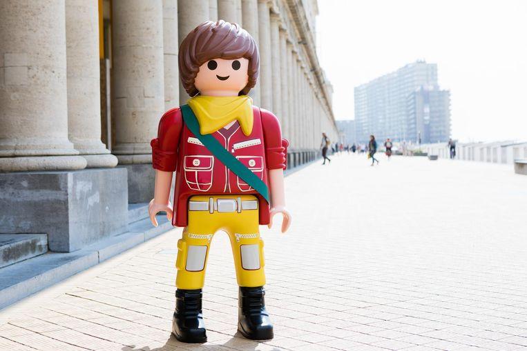 Kleine en grote(re) figuren van Playmobil zijn verstopt in Oostende. Kan jij ze vinden?