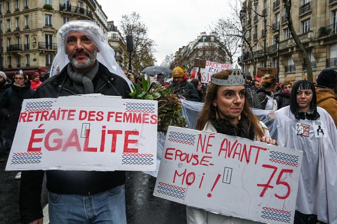 Manifestation à Paris, le 12 décembre 2019.