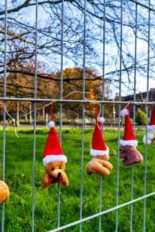 Buurt in rouw om 170 jaar oude doodzieke boom: Utrechters hangen knuffels en kerstversiering op