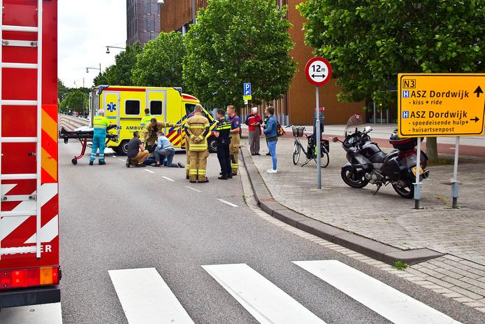 Aanrijding bij het Albert Schweitzer ziekenhuis.