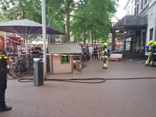 Brandje naast pannenkoekenrestaurant 't Hoogstraatje in Nijmegen