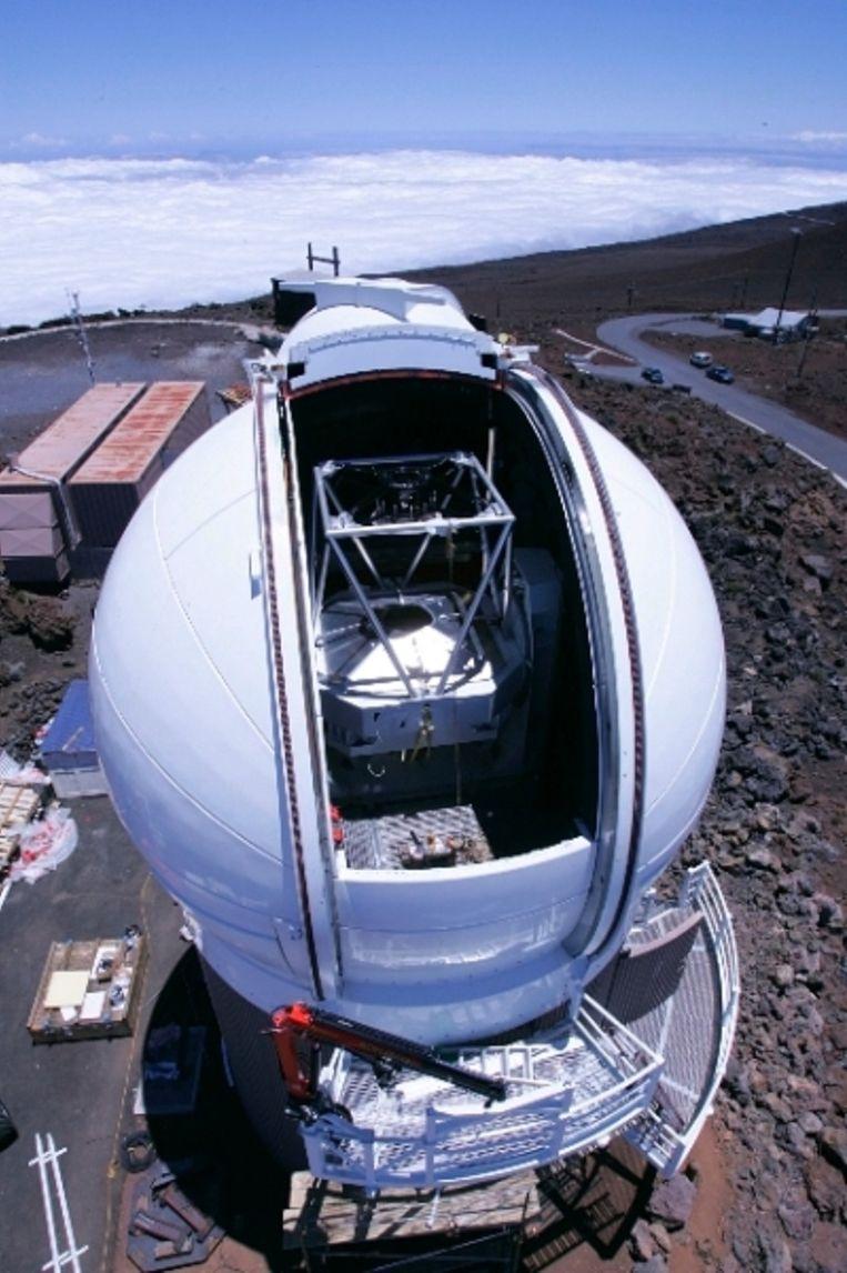 De Pan-Starrs-telescoop op Hawaï. Beeld