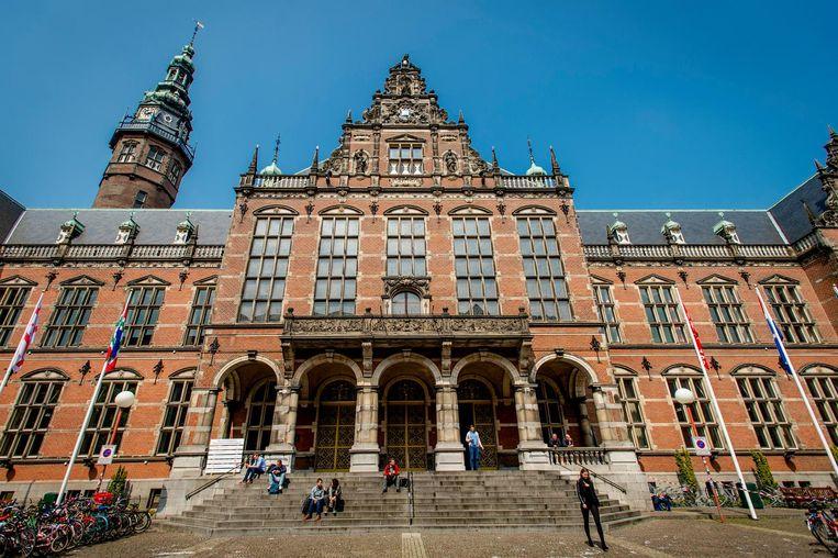 Academie gebouw, Rijks Universiteit Groningen. Het universiteitsbestuur spreekt bij monde van woordvoerder Gernant Deekens van 'een interne kwestie' die Vindicat zelf moet oplossen Beeld anp