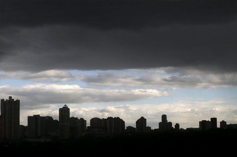 De skyline van Moskou Beeld epa