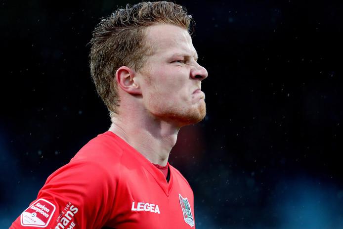 Ferdy Druijf baalt van het verlies tegen FC Eindhoven (3-2) bij zijn debuut voor NEC.