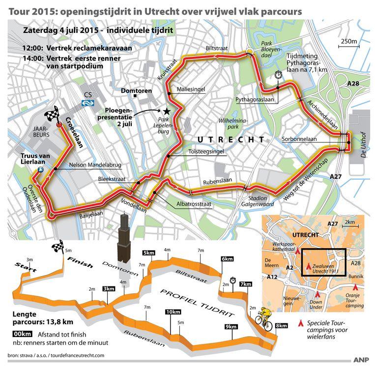 Routekaart van de eerste etappe Beeld null