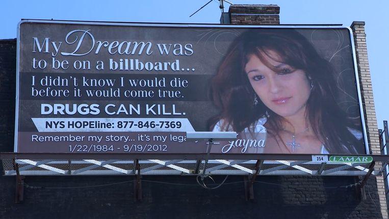 De billboard van Jayna Montero