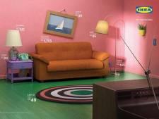 Ikea bootst woonkamers uit hitseries na: van The Simpsons tot Friends